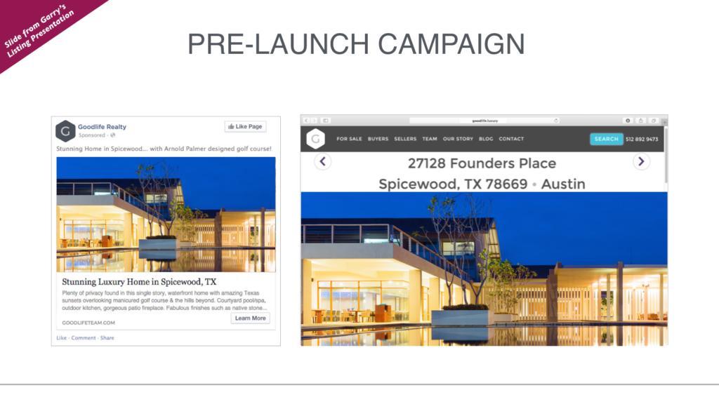 Facebook Marketing for Listing Presentation